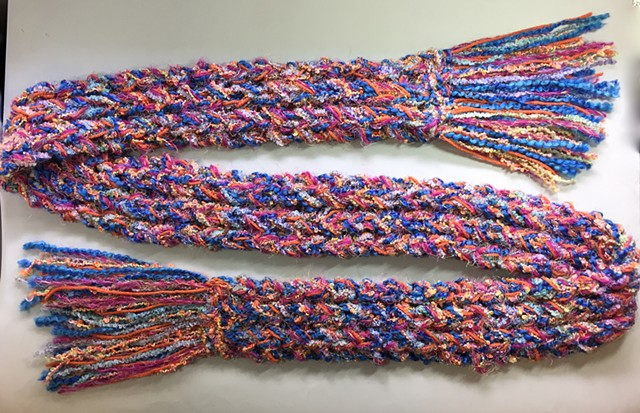 J12_ BLUES, FUCHSIA, ORANGE SCARF