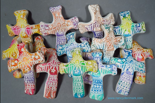 special order of Joyful Angel Hand Crosses made by Nancy Denmark