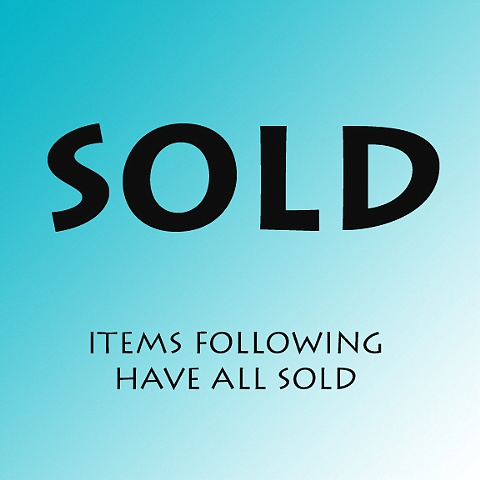 SOLD MARKER crosses shown after this image have sold