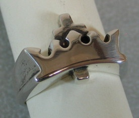 sterling silver cross and crown ring © Nancy Denmark