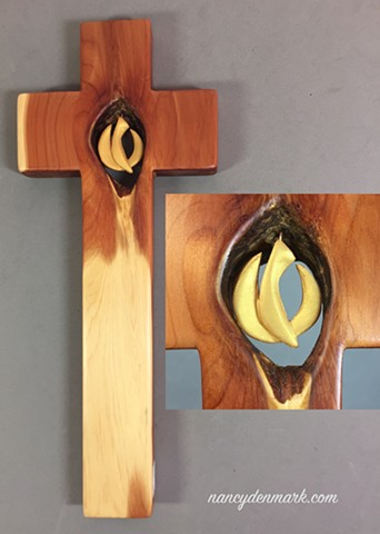 SPIRIT IN MOTION CEDAR WALL CROSS #1