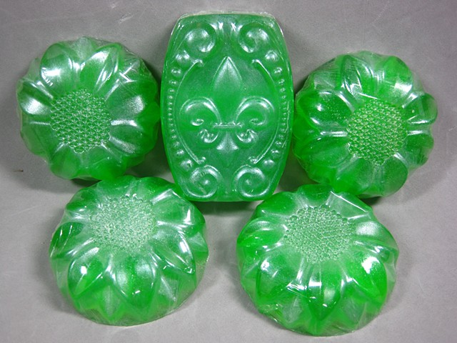 Margarita Lime Soap handcrafted by Nancy Denmark