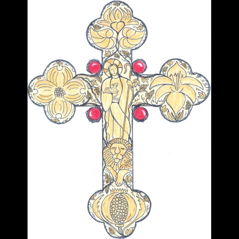 DRAWING OF CROSS DESIGN