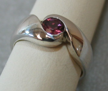 PINK TOURMALINE IN STERLING VIEW 3