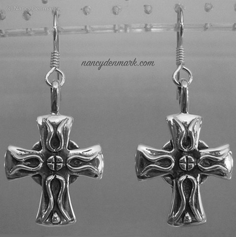 Sterling Iona Cross Earrings © Nancy Denmark