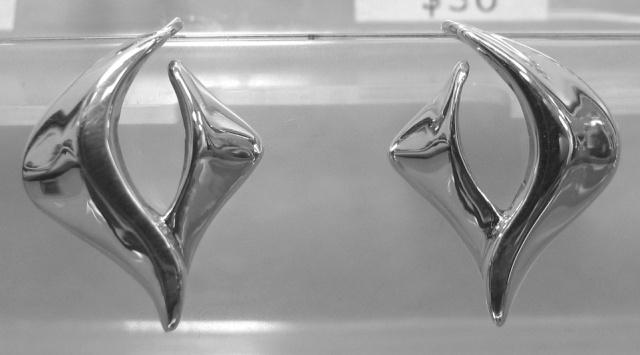 """Filled With The Spirit"" sterling silver dove earrings © Nancy Denmark"