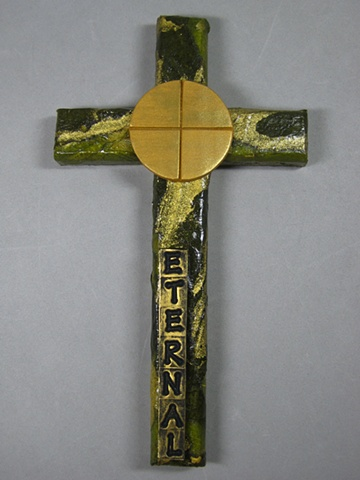 eternal life bread of life wall cross by Nancy Denmark and Patti Reed