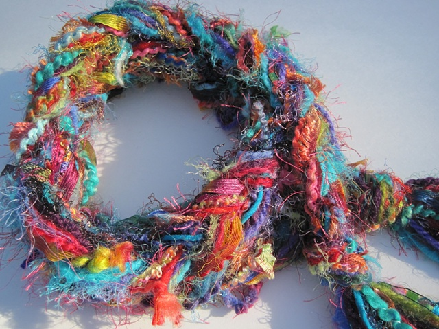 braided yarn boa scarf