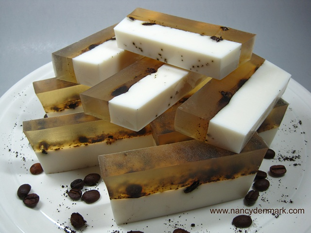 caffe latte handcrafted soap by Nancy Denmark