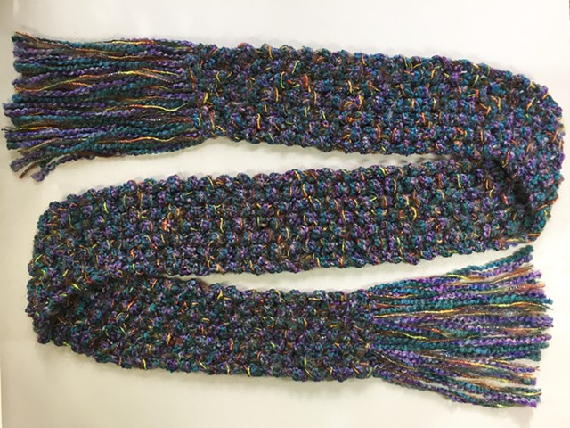J2_ TEAL, PURPLE, METALLIC SCARF
