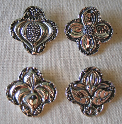 4 QUATREFOIL CROSS PENDANTS