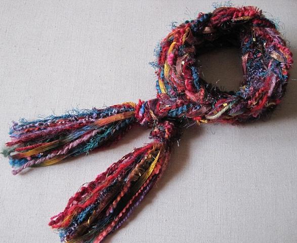 braided yarn boa style scarf