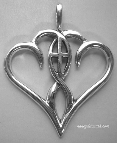 "sterling silver ""One In The Spirit"" jewelry design © Nancy Denmark"