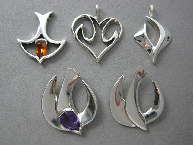 sterling silver descending dove jewelry ©Nancy Denmark