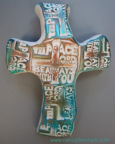 Peace of the Lord Hand Cross by Nancy Denmark