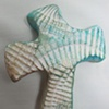SEASHELL IMPRESSED HAND CROSS