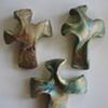 3 EARTHY HAND HELD CROSSES 1-3