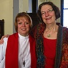 THE REV. KATHI INGLIS JOHNSON WITH NANCY DENMARK AT THE ORDINATION