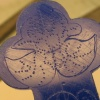 LOTUS FLOWER MARKED WITH PINHOLES