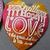 FAITH HOPE LOVE HAND HELD HEART  BRIGHT HIGHLIGHT COLORS