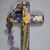 ECW BUTTERFLY COLLAGE CROSS PURPLE & GOLD