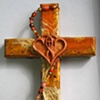 ONE IN THE SPIRIT  ON ORANGE COLLAGE CROSS