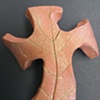CURVY LEAF IMPRESSED HAND CROSS