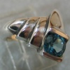 BLUE TOPAZ IN STERLING RING VIEW 2