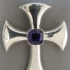 H31 BISHOP ALARD CROSS  w/ ROUND AMETHYST