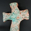 GREEN & GOLD HAND CROSS