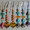 BEADED EARRINGS 3  6 pair shown