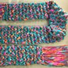 N1_ TURQUOISE, CORAL, PINK SCARF