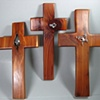 3 CEDAR CROSSES WITH STERLING SYMBOLS