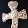 GOLD GOOD SHEPHERD HAND HELD CROSS #2