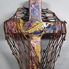 CAST YOUR NETS WALL CROSS  MUTED COPPER & PURPLE
