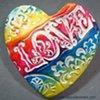 LOVE RAINBOW HAND FULL OF LOVE HEART