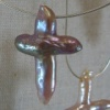 PEARL CROSSES ON CHAIN