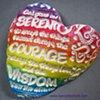 RAINBOW SERENITY PRAYER HAND FULL OF LOVE HEART