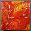 LEAVES MIXED MEDIA CANVAS