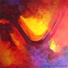 FLOWING THROUGH LIGHT ACRYLIC ON CANVAS PAINTING