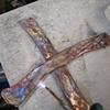 Nancy Denmark Flame Painting Copper Cross