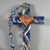 ONE IN THE SPIRIT COLLAGE CROSS BLUE & PURPLE SWIRL