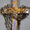 CAST YOUR NETS WALL CROSS  PURPLE, GOLD, & BROWN