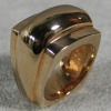 R26 DOME RING 14K ANGLED VIEW