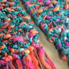 N1_ TURQUOISE, CORAL, PINK SCARF CLOSE UP
