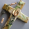 CLOSE UP CROSS WITH DESCENDING DOVE THE SPIRIT IN MOTION (SOLD)