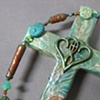 CLOSE UP ONE IN THE SPIRIT LIGHT GREEN COLLAGE WALL CROSS