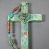 ONE IN THE SPIRIT LIGHT GREEN COLLAGE WALL CROSS