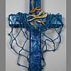 CAST YOUR NETS (BLUE)  COLLAGE CROSS