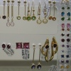 14K GOLD & GEMSTONE EARRING DISPLAY